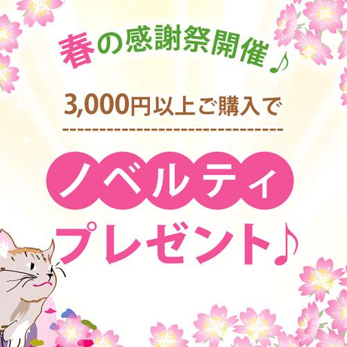 春の感謝祭開催♪ 3000円以上ご購入でノベルティプレゼント♪