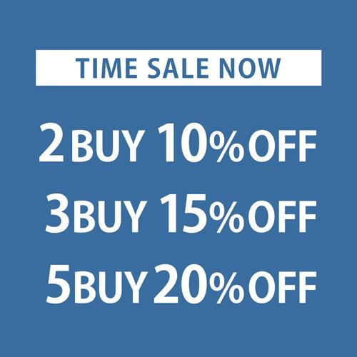 TIME SALE NOW 2BUY10%OFF 3BUY15%OFF 5BUY20%OFF